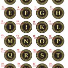 """Take any 3 1.25"""" Fridge Magnet Button Alphabrts and Numbers 1.25"""" (Aprox. 32mm)"""