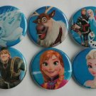 "Lot of 6 1.25"" Pinback Buttons Badges Frozen cartoon (Approx. 32mm)"