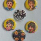 "Lot of 6 1.25"" Pinback Buttons Badges The Beatles (1¼"" Pins Approx. 32mm)"