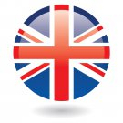 """1.25"""" Pinback Button Badge Union Jack British Flag Britain England (Approx. 32mm) 'Buy 2 Get 1 Free'"""