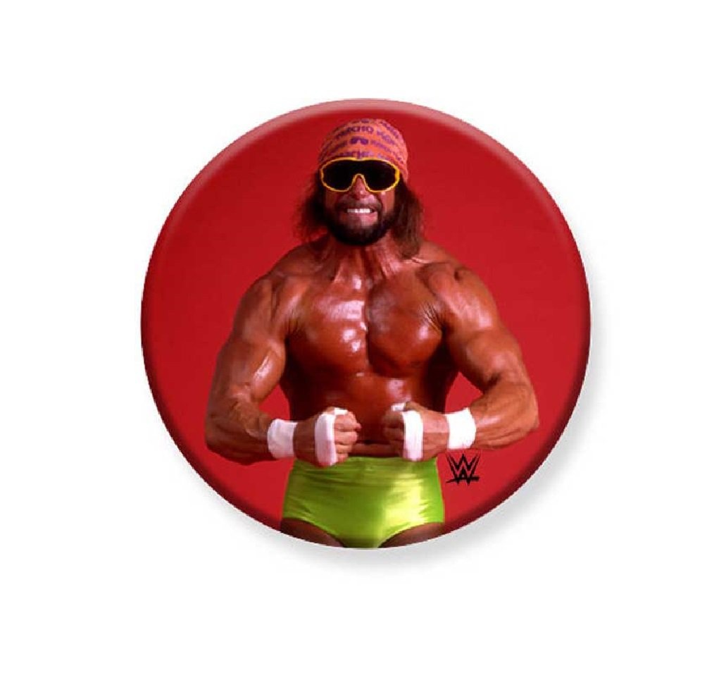 "1.25"" Pinback Button Badge WWE - Macho Man 1 1/4"" Rd. Button 'Buy 2 Get 2 Free'"