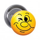 "1.25"" Pinback Button Badge Emoji Smiley Face #2 'Buy 2 Get 2 Free'"