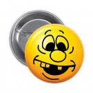 "1.25"" Pinback Button Badge Emoji Smiley Face #3 'Buy 2 Get 2 Free'"
