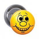 """1.25"""" Pinback Button Badge Emoji Smiley Face #12 'Buy 2 Get 1 Free'"""