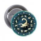 "1.25"" Pinback Button Badge Zodiac Scorpion 'Buy 2 Get 2 Free'"