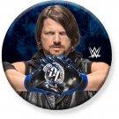 """(2) 1.25"""" Pinback Button Badge WWE - AJ Styles 1 1/4"""" Rd. Button"""