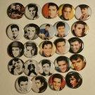 "Wholesale Lot Party Set (24) 1.25 inch Pinback Button Badge Elvis Presley (1¼"", Aprox. 32mm)"