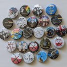 """Wholesale Lot Party Set (24) 1.25 inch Pinback Button Badge Pink Floyd (1¼"""", Aprox. 32mm)"""