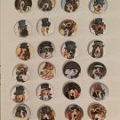 """Lot of 24 1.25 inch Pinback Button Badge Steampunk Dogs 1.25"""" (Aprox. 32mm)"""