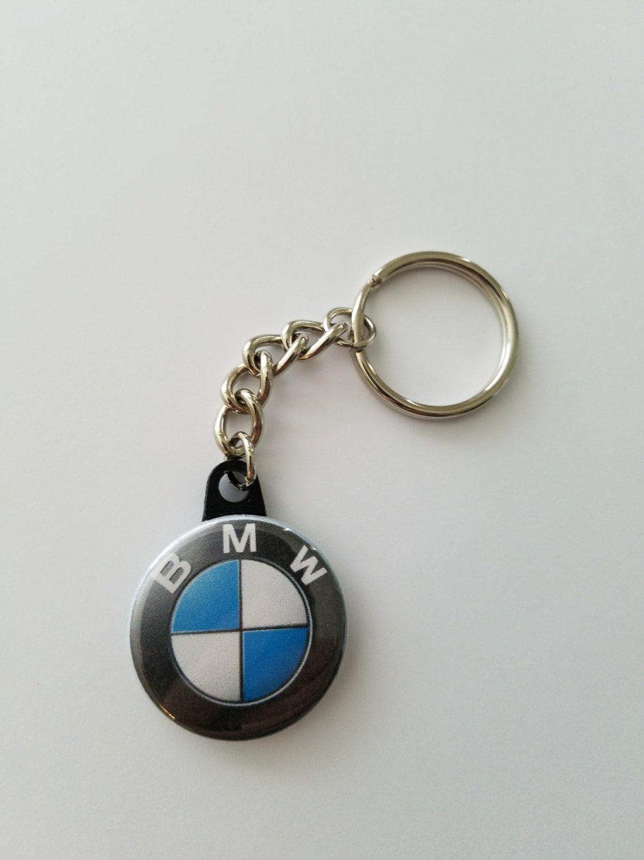"""Keychain with 1.25"""" Button BMW"""