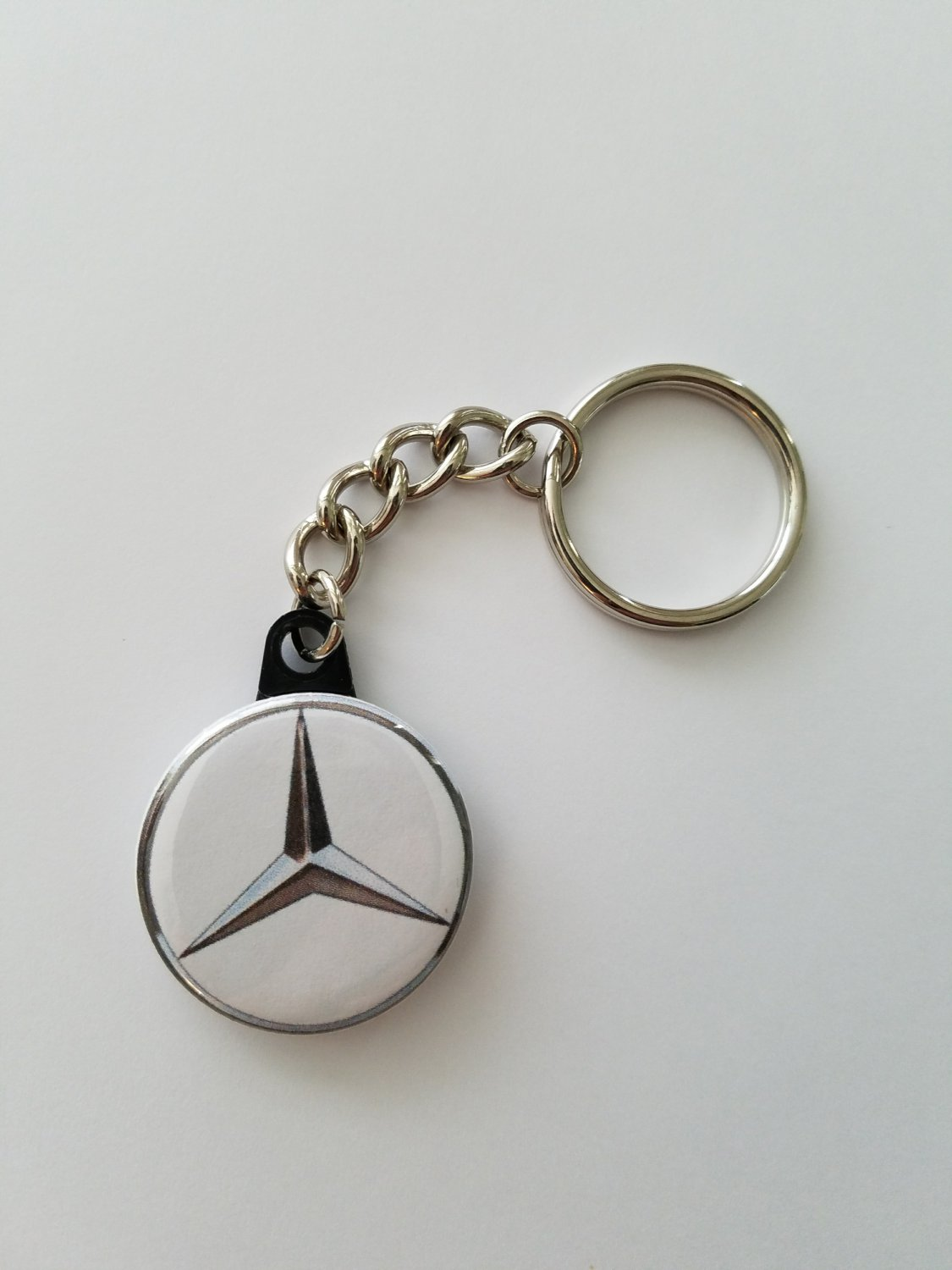 "Keychain with 1.25"" Button Mercedes"