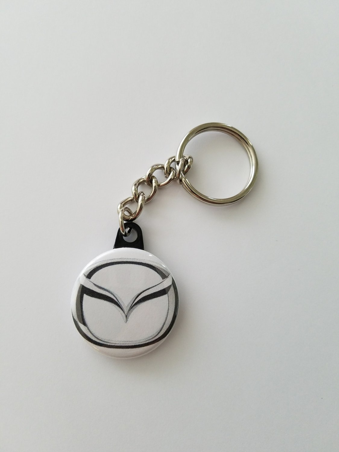 "Keychain with 1.25"" Button Mazda"