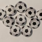 "Lot of 10 1.25"" Pinback Buttons Soccer Ball"