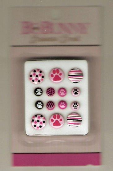 BoBunny Posh Pet Pink Bodacious Brads #653