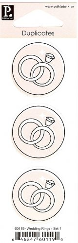 Pebbles Inc Duplicates Wedding Rings Set 1 #365