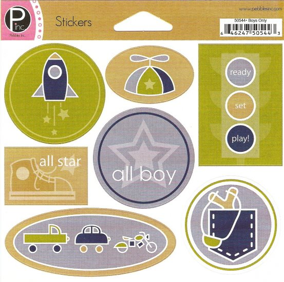 P Inc Stickers Boys Only #109