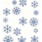DCWV Glitter Stickers Snowflakes #328