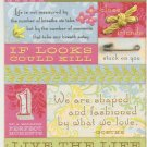 K & Company Embossed Stickers Amy Butler Bella Quilted Words #317