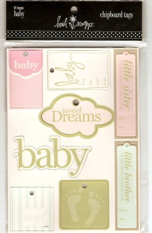 Heidi Swapp Chipboard Tags Baby #409