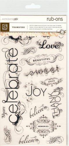 Basic Grey Decorative Words #348