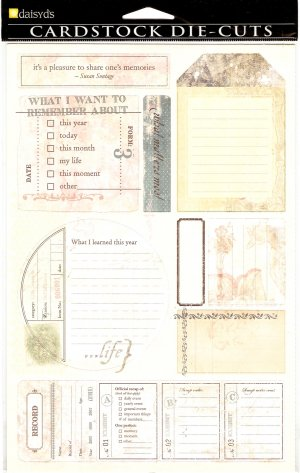 Daisy d's Remember Journaling Tags #359