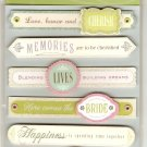 K & Company Grand Adhesions Wedding Sentiments #915