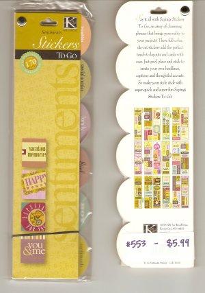 K & Company Sentiment Stickers To Go #553