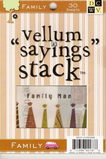 "DCWV Vellum ""Saying"" Stack Family #947"