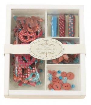 Prima Embellishment Kit Bright Pink #530