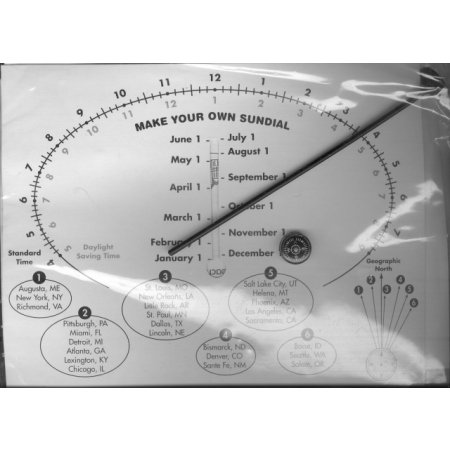 Make Your Own Sundial Kit Educational Toy Science