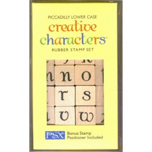 Alphabet Rubber Stamps Lower Case Educational Toy