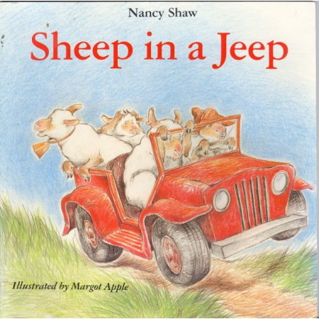 Sheep in a Jeep, N Shaw, Beginner Learn to Read Book