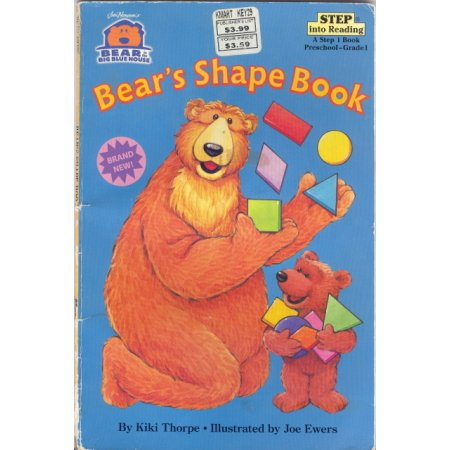 Bear's Shape Book K-1 Bear and the Big Blue House Book Disney
