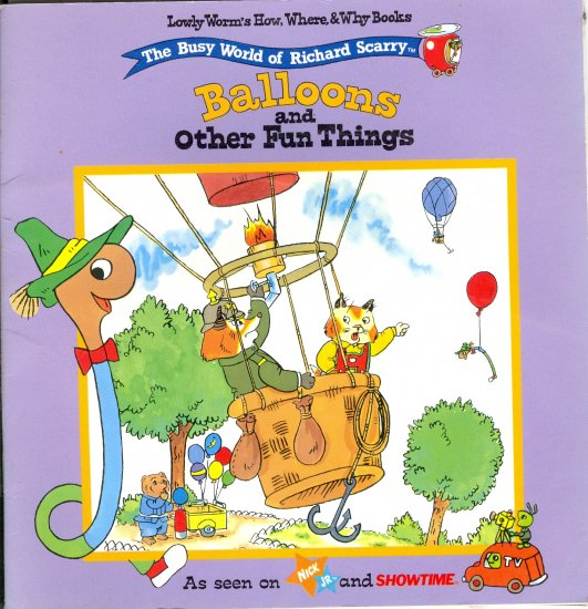 The Busy World of Richard Scarry, Balloons and Other Fun Things, Science Childrens Book
