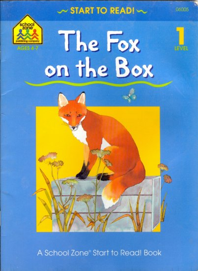 The Fox on the Box, School Zone Level 1 Reader Childrens Book