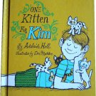 One Kitten for Kim, by Adelaide Holl,  Weekly Reader Children's Book Club, hardcover reader,