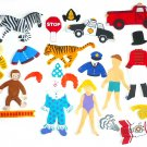 Felt Board Set, Curious George Circus, Educational Developmental Religious