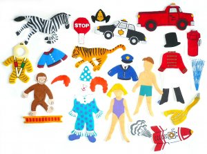 Felt Board Set, Curious George Circus, Educational Developmental Religious