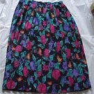 Alfred Dunner Soft Pleated Floral Skirt