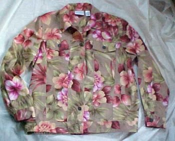 Alfred Dunner Multi Colored Floral Jacket