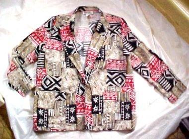 Briggs of New York Tapa Cloth Blazer Jacket