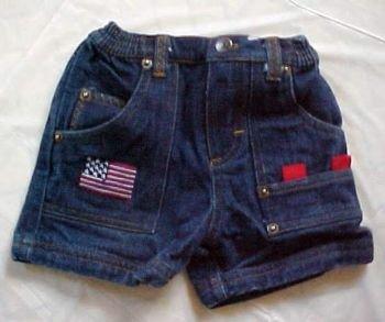 US Polo Assn. Denim Jean Shorts for Boy 6-9 MO
