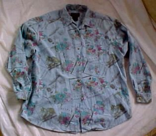 Eddie Bauer Sportswear Shirt Blouse Top for All Year Round  SZ-MED