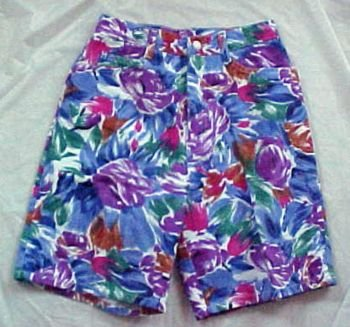 Cyclone Floral Denim Cotton Shorts for Summer Size: 7
