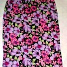 Hillard and Hanson Long Polyester Floral Skirt - Size Mediuem (Pink/Purple)