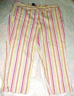 Venezia Ladies Cotton Cropped Capri Pants - Size 16