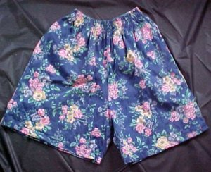 Erika and Company Cotton Knit Floral Shorts for Summer