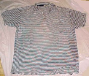 Eddie Bauer Mens Cotton Knit Stripped Polo Shirt - Size: XL/XG