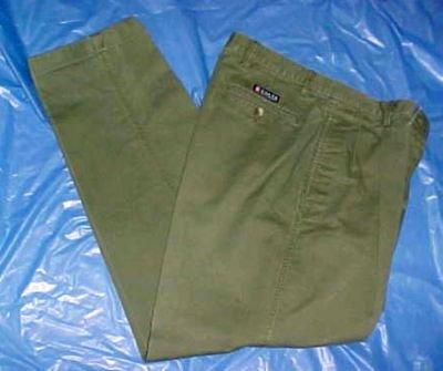 Ralph Lauren Chaps Army Drab Khaki Mens Pants - Size: W/34 L32