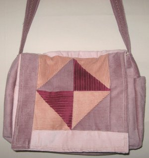 Strawberry Blends Patchwork Tote purse